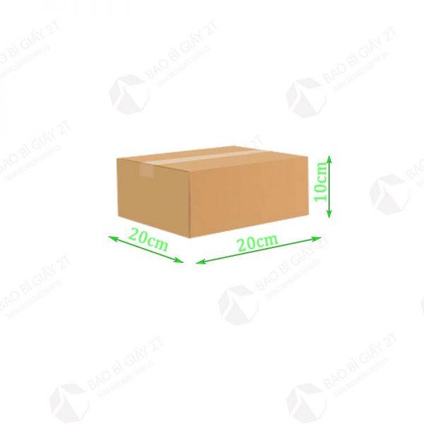 Hộp carton kích thước 20x20x10