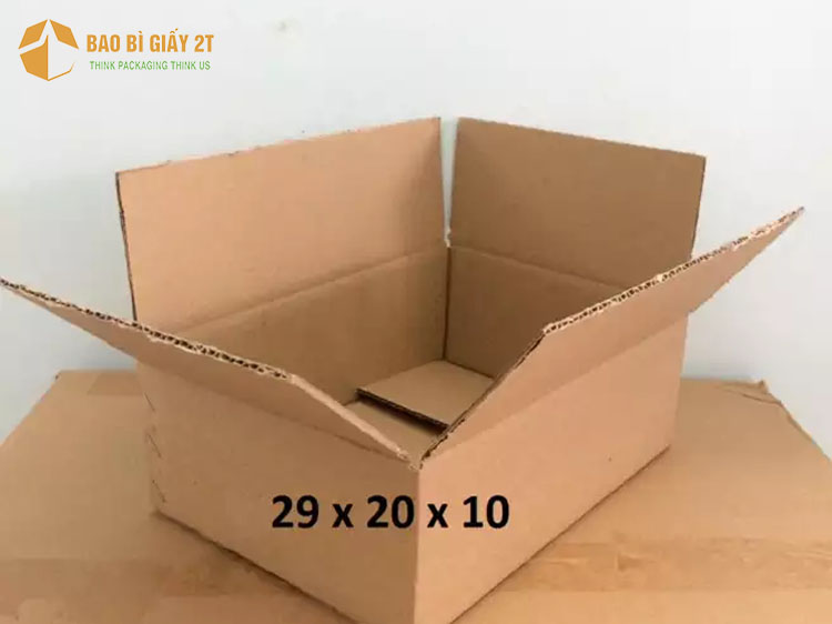 Hộp carton 3 lớp phù hợp đóng gói các mặt hàng có trọng lượng nhỏ đến trung bình