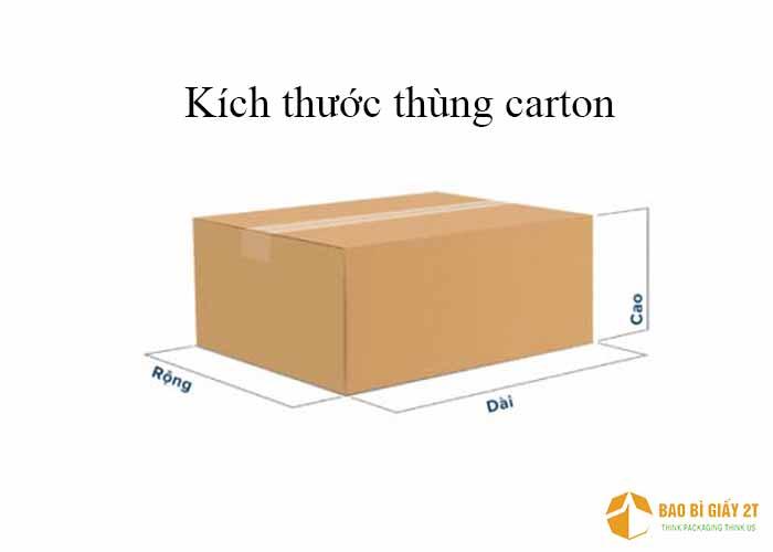 Cách đo kích thước thùng carton