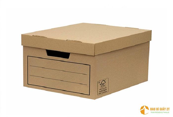 Hộp carton lưu hồ sơ