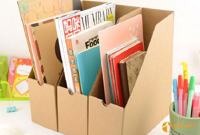 Hộp carton đựng tài liệu mini để trên bàn
