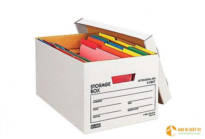 Hộp carton lưu trữ hồ sơ