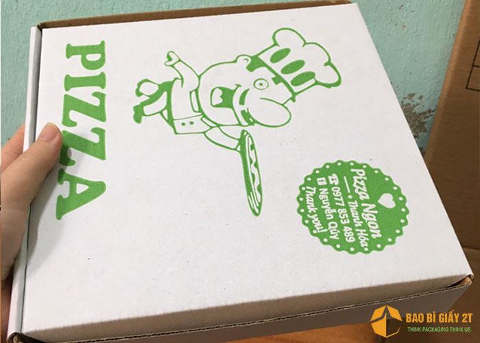 Hộp carton sóng e đựng pizza
