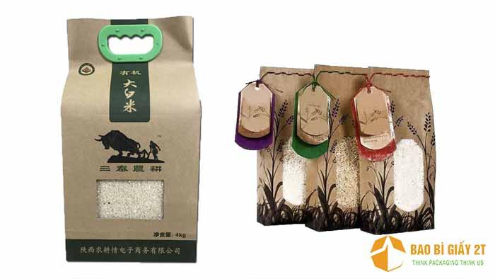 Túi giấy đựng gạo xuất khẩu