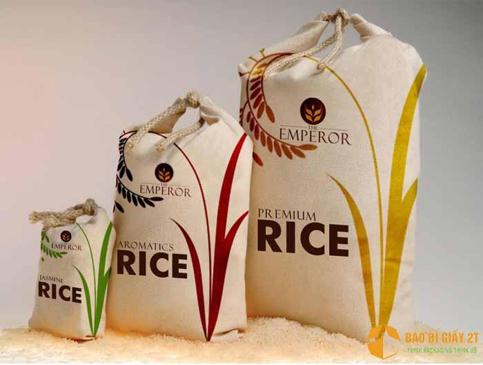 Bao bì giấy đựng gạo đẹp