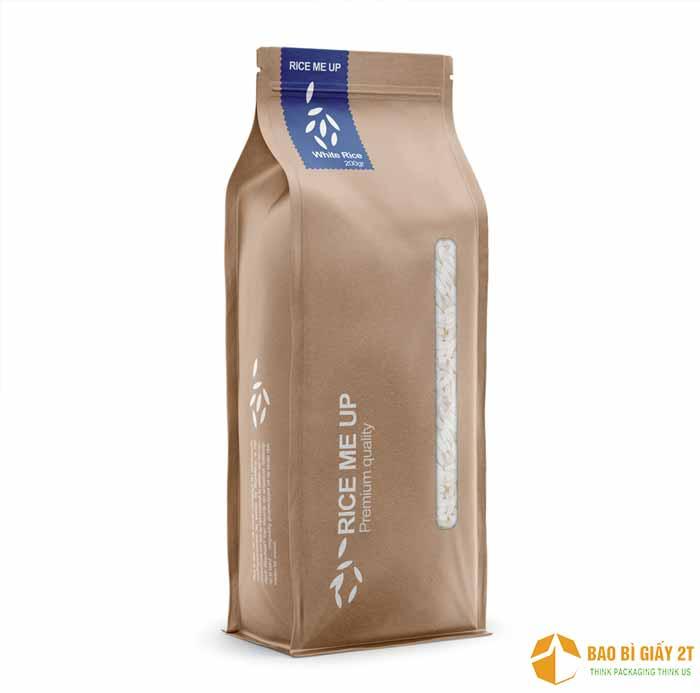 Mẫu bao bì giấy đựng gạo xuất khẩu