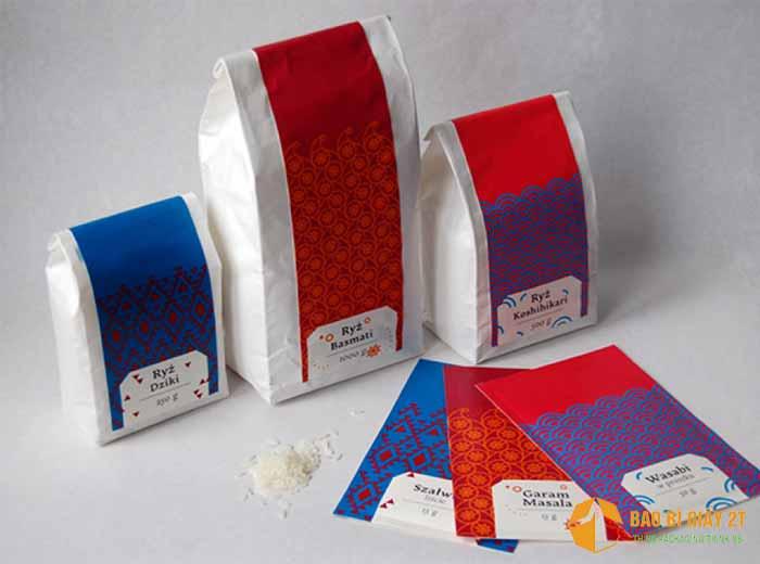 Bao bì giấy đựng gạo