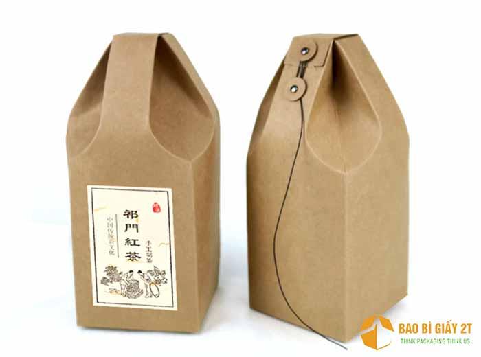 Mẫu túi giấy đựng gạo thắt chun độc đáo