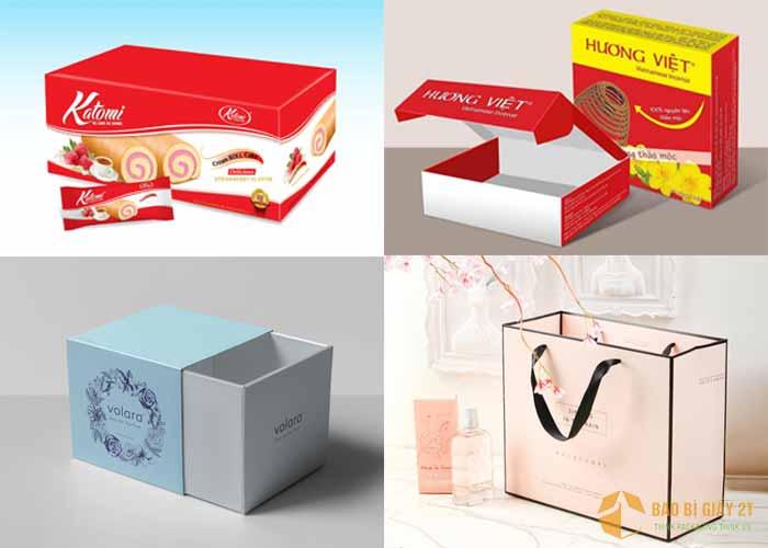 Mẫu bao bì hộp giấy in offset nhiều màu sắc bắt mắt