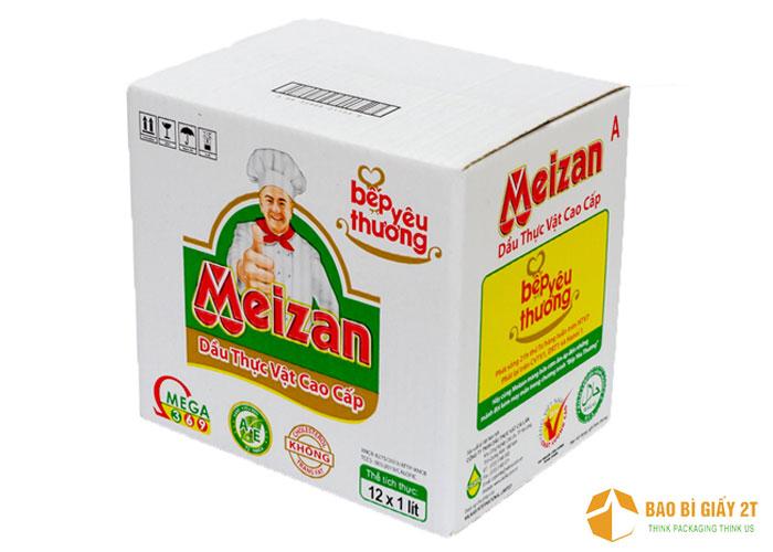 Meizan thiết kế thùng carton khá bắt mắt với nhiều màu sắc, giúp nhận diện thương hiệu khá tốt