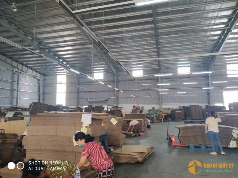 Xưởng sản xuất bao bì, thùng carton 2T